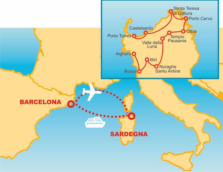Barcelona i Sardenya
