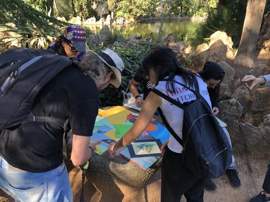 Collage al Parc Samà - Sketching tour
