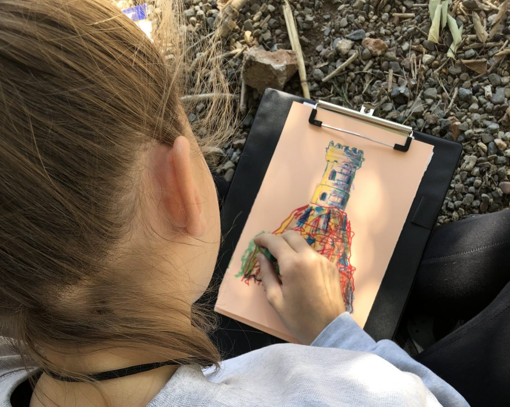 Dibuix Torre Mirador Parc Samà