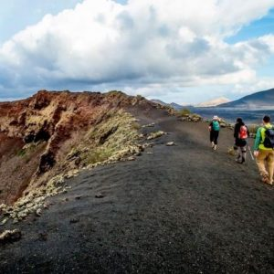 Walking tour in Lanzarote, the volcanic island